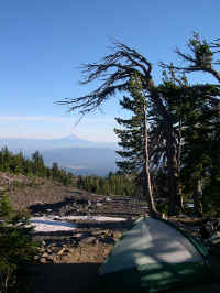 Great campsite with a view of Mt. Hood
