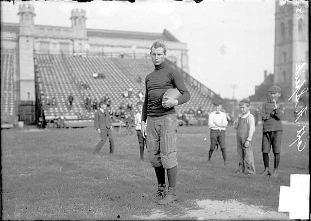FAS, All American/Captain, University of Chicago, posing for the Chicago press in 1904