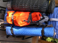 Note the straps I had sewn on by Metolius Climbing to hold the pads and crampons.