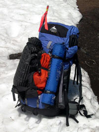 The Gregory Makalu Pro packed for an overnight spring summit.