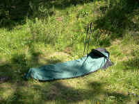 My TNF Soloist bivy keeps the mosquitoes out. Lite pack'n!