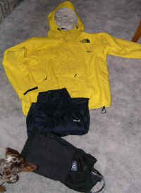 Gore-Tex Pack-lite® pants and jacket, always carried in winter as my wind and rain protection,